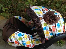 Universal Car Seat Canopy by Baby Owl Infant Car Seat Cover Canopy Cover Slip Covers Fit Most