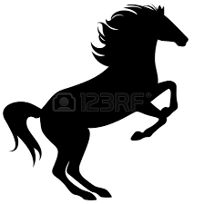 mustang horse silhouette stallion clipart horse outline pencil and in color stallion