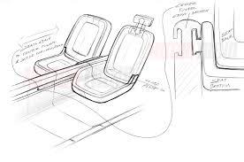 lexus interior sketch apple car interior seat detail sketch motor trend