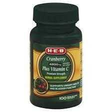 h u2011e u2011b cranberry 4200 mg plus vitamin c premium strength rapid