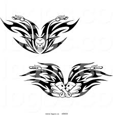 royalty free clip vector logos of black and white skull and