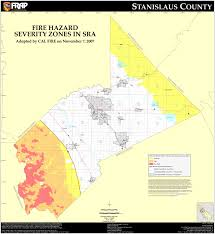 Ring Of Fire Map Cal Fire Stanislaus County Fhsz Map