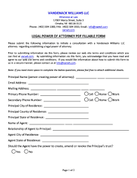 printable free legal forms power of attorney fill out u0026 download
