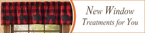 Rustic Curtains And Drapes Bear Curtains Drapes And Valances Window Treatments Cabin Place