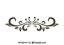 retro floral decorative text divider design vector free vector