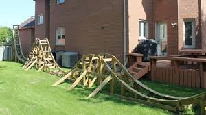 roller coaster for backyard this student built a roller coaster in his parent s backyard