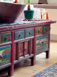 Bohemian Style Interiors American Hippie Bohéme Boho Lifestyle Painted Dresser