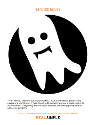 halloween ghost stencil the best ghost pumpkin designs real simple
