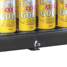 outdoor triple glass alfresco bar fridge with lock