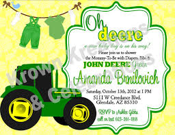 deere baby shower deere baby shower invitations template best template collection