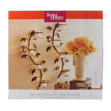Tealight Wall Sconce Better Homes And Gardens Vine And Leaf Tealight Wall Sconces Set