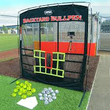 backyard batting cages with pitching machine home outdoor decoration