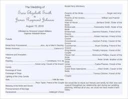 blank wedding program templates blank wedding program templates with wedding programs u6331 free