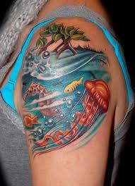 new school water tattoo underwater scene tattoo google search tattoo ideas pinterest