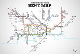 Average 1 Bedroom Rent Us This Tube Map Shows The Average Rent Costs Near Every Underground