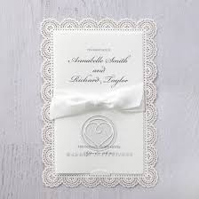 Vintage Lace Wedding Invitations Vintage Lace Laser Cut For Traditional Weddings Bifold Card