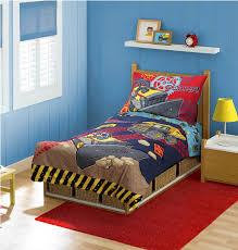Monster Truck Bed Set Cool Black And Blue Monster Truck Comforter Bedding Set For Small