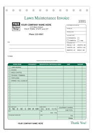 Lawn Maintenance Invoice Template by Landscaping Starter Kit Directory
