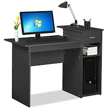 2 Tier Desk by Go2buy Small Spaces Home Office White Computer Desk With Drawers