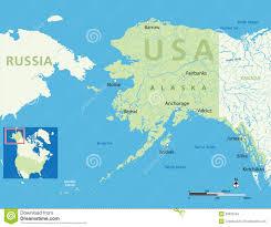 us map of alaska us map anchorage alaska map alaska usa small location map vector