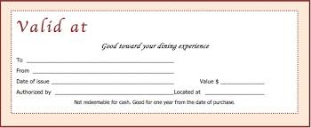 gift certificate template simple editable gift certificate 5 free