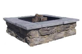 Fire Pit Block Kit Square Fire Pit Kits Natural Concrete Products