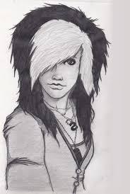 emo sketch re done by starlight679 on deviantart