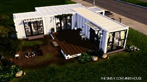 the sims 4 shipping container house youtube