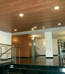 Recessed Lighting For Drop Ceiling by Interior Wooden Suspended Ceiling Tile With Recessed Lighting