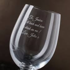 wine glass gift personalised wine and glass set gettingpersonal co uk