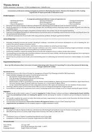 marketing resume format executive sample mid career change lev