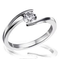 verlobungsring weiãÿgold damenring solitär verlobungsring 585 weißgold 1 brillant 0 50 ct