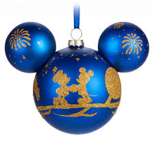 mickey mouse icon glass ornament walt disney world shopdisney