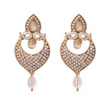 artificial earrings online buy fashion jewelry gold plated whitestone earring with price