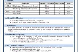 Sample Resume For Mba Freshers by Mba Freshers Resume Model Reentrycorps