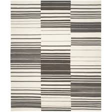 Grey Striped Rug Modern Flat Woven Area Rugs Allmodern