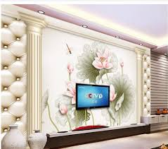 roman wall mural promotion shop for promotional roman wall mural custom 3d wallpaper roman column leather lotus flower carving background wall mural 3d wallpaper 3d bathroom wallpaper
