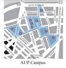 American University Campus Map Aup U0027s