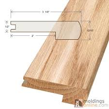 Laminate Flooring On Stairs Nosing Arcadia Moldings Flexible Stair Nose Oak Texture Flush Stair