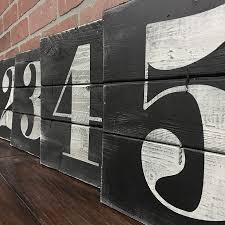 Urban Rustic Home Decor by Number Wall Art Rustic House Numbers Subway Numbers Number