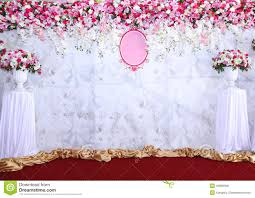wedding backdrop images pink and white backdrop flowers arrangement ready for wedding