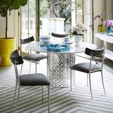 nixon black elm and brass dining table modern furniture