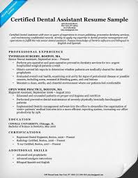 resume exles for dental assistants dental resume exles writing tips resume companion