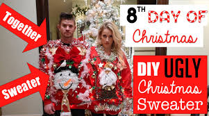 diy easy ugly christmas sweaters together sweater 8th day