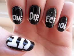 tutorial nail art one direction one direction nails nail art gallery