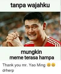 Yao Min Meme - tanpa wajahku mungkin meme terasa ha thank you mr yao ming