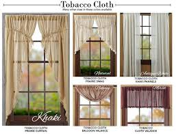 Prairie Curtains Captivating Tobacco Cloth Curtains And 22 Best Primitive Curtains