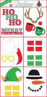 christmas photo booth props christmas photo booth free printables
