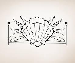 vinyl wall decal sticker seashells headboard os aa1162