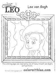 coloring page for van self portrait coloring page self portrait coloring page van coloring